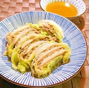 白菜と豚肉のミルフィーユ レンジ蒸し