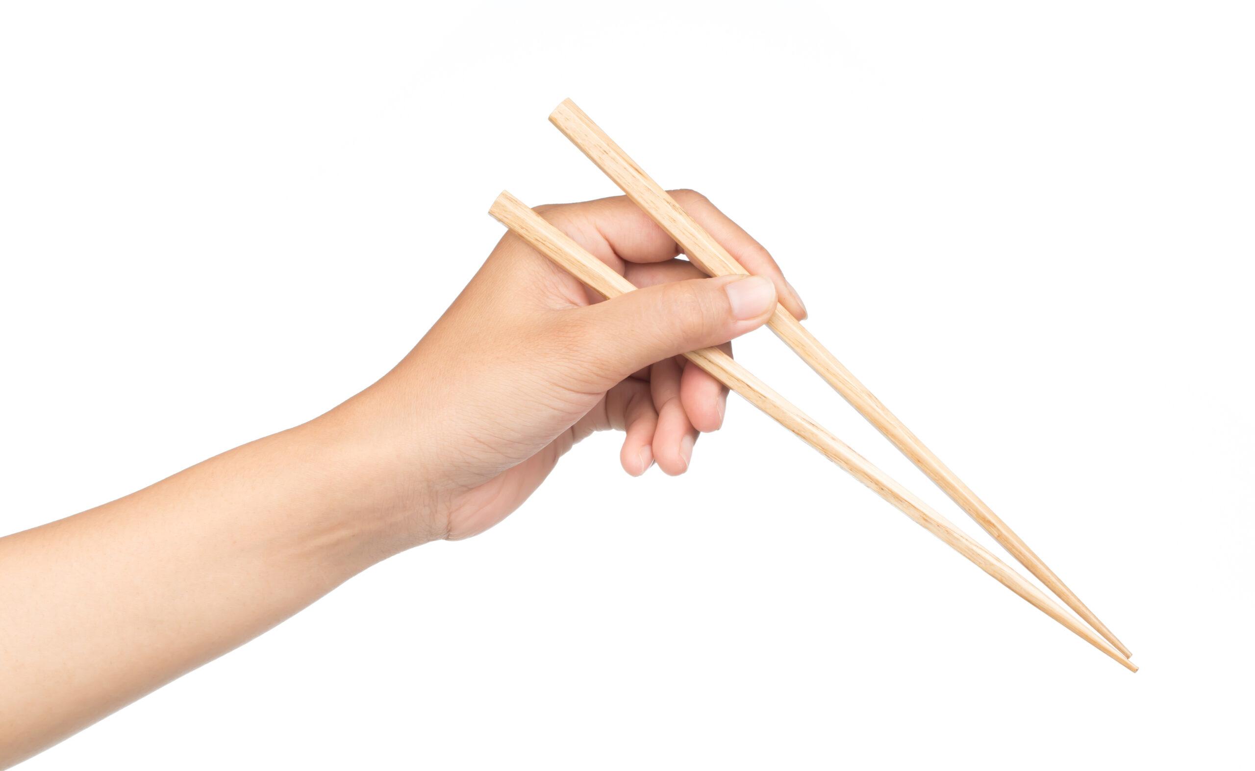 箸の持ち方は正しく
