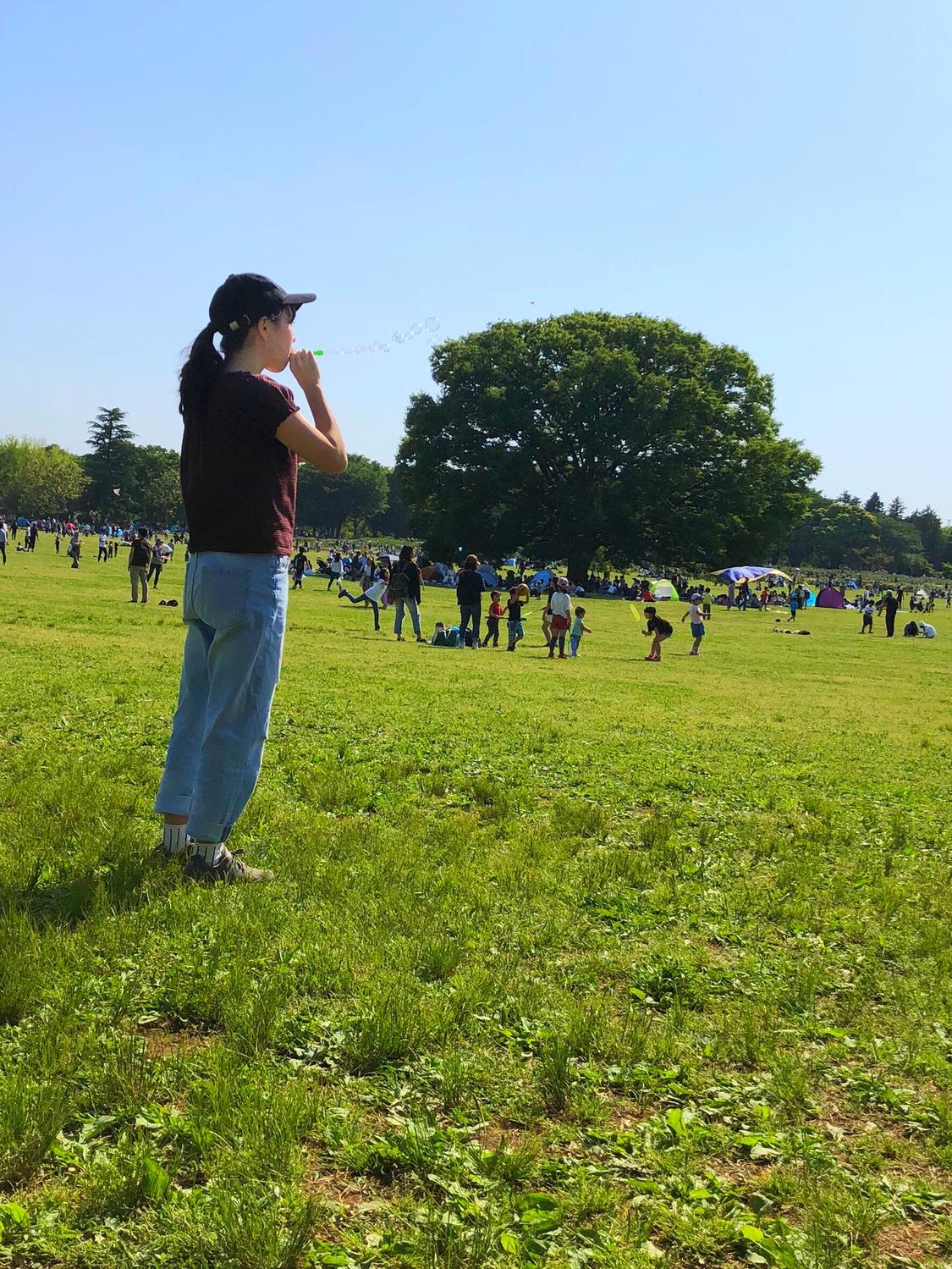 国営昭和記念公園でピクニック
