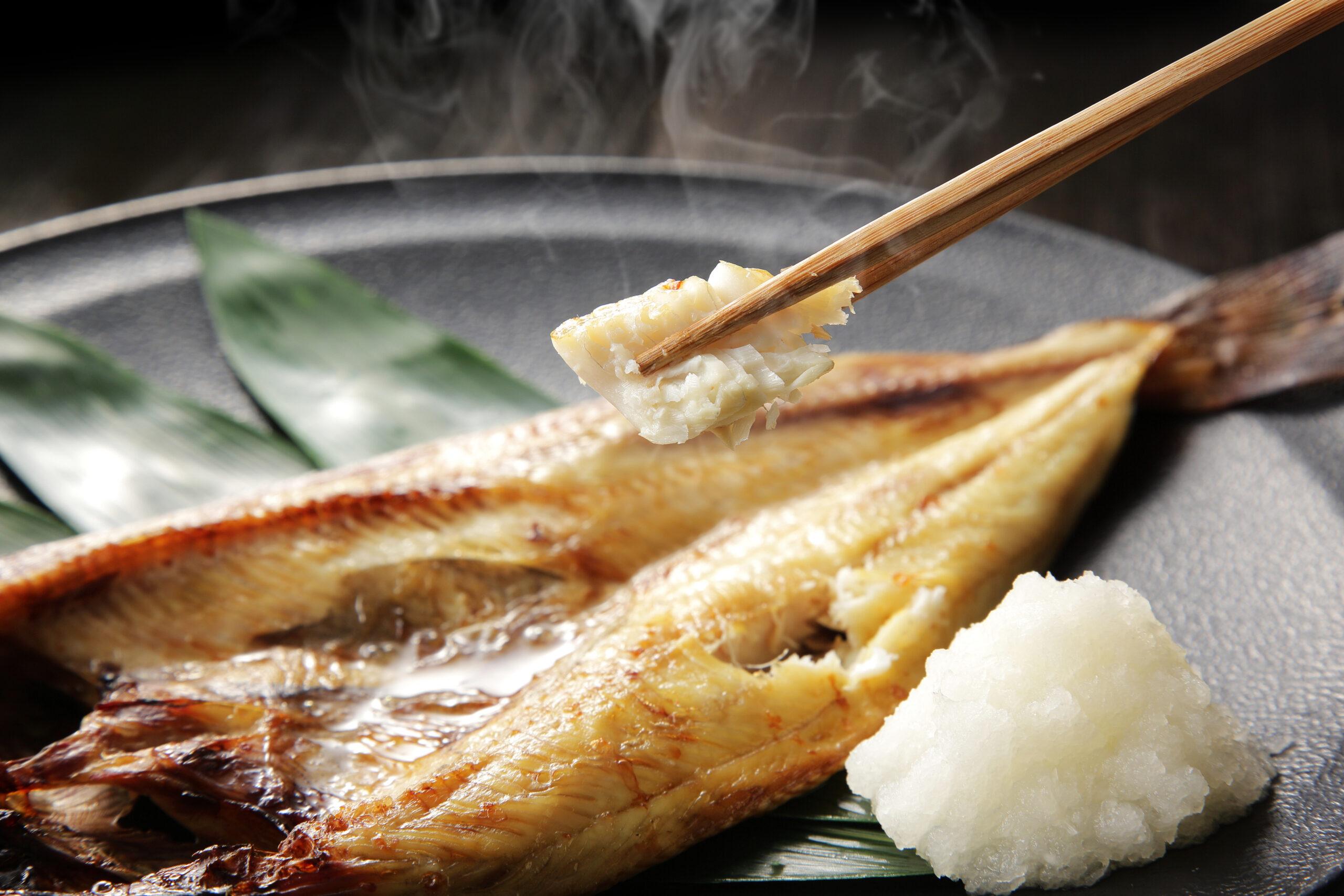 焼き魚の食べ方