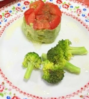 簡単過ぎる!前菜に アボカドとトマトのミルフィーユ