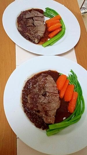 家フレンチ☆クラシックな赤ワインソースのステーキ