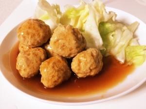 減量レシピ 〜鶏ムネ肉団子