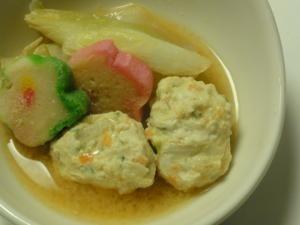 お鍋に!豆腐でふっくら鶏団子
