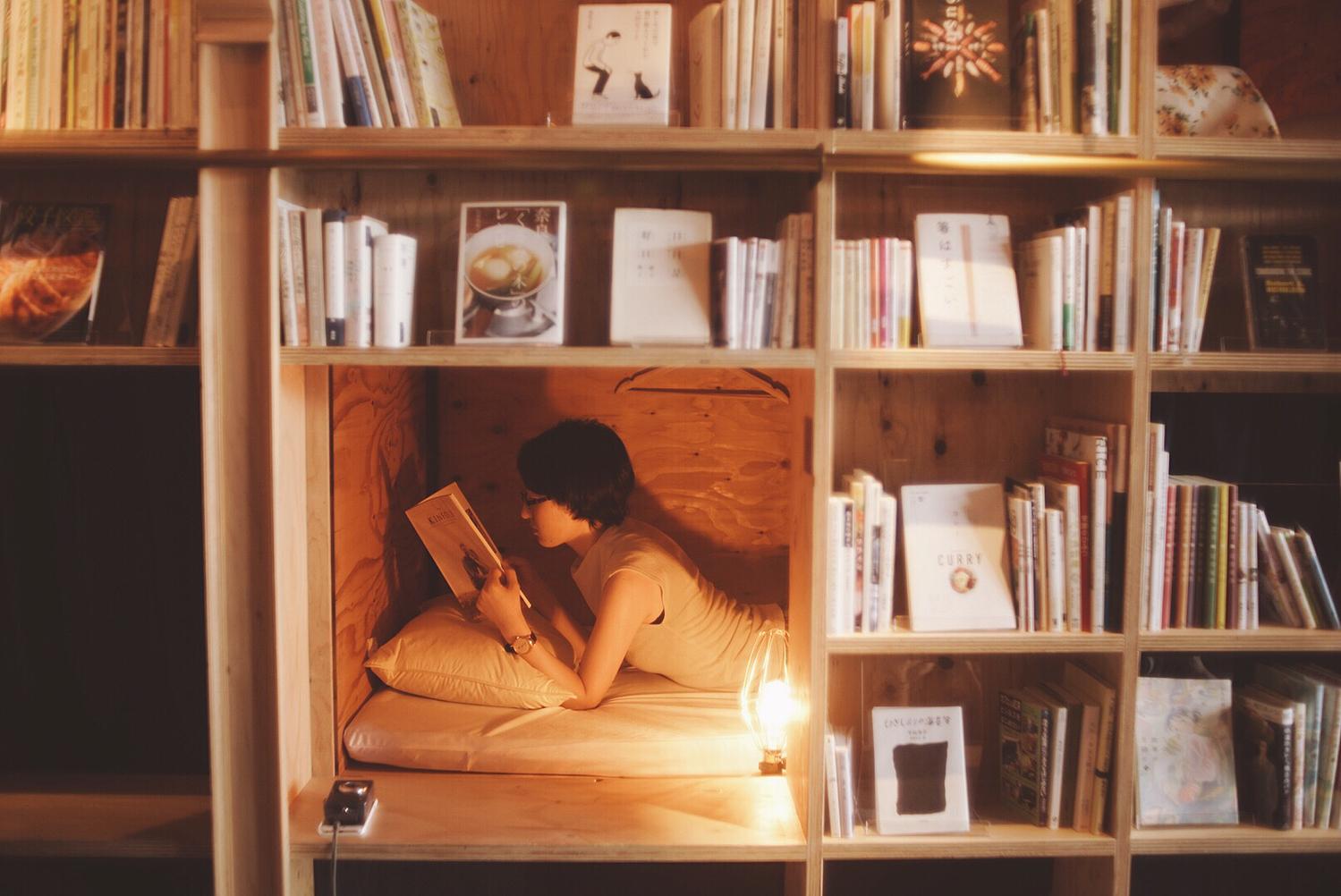ゆったりリラックスしながらの読書タイム