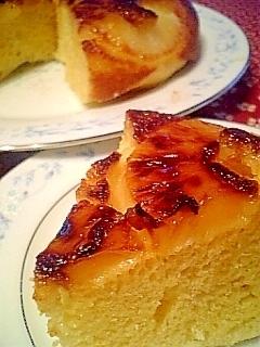 フライパンで焼く時短パイナップルケーキ♪