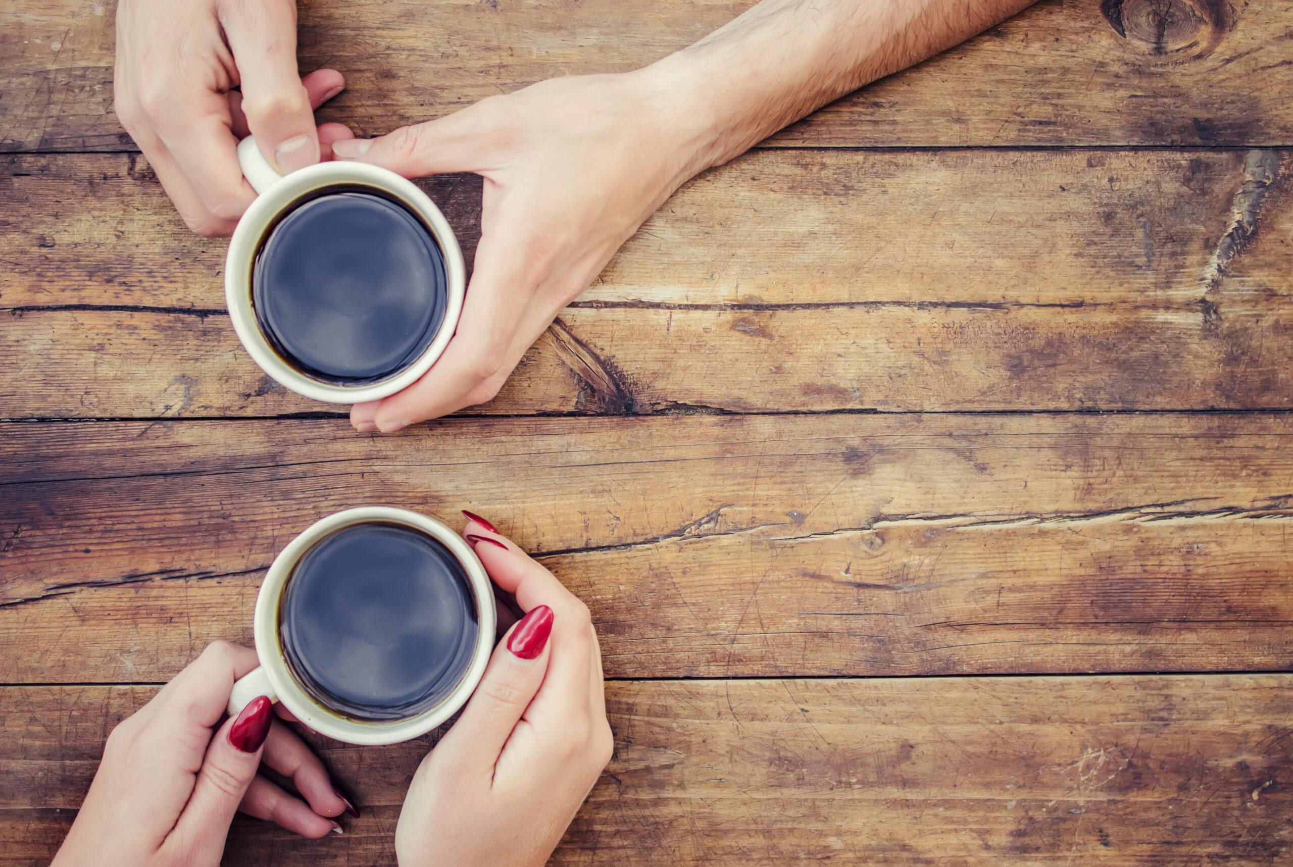 コーヒーでほっと一息