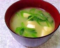 冷凍ほうれん草でお味噌汁
