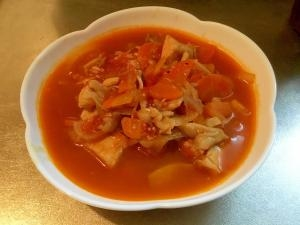 【サラダチキンアレンジ】時短トマトスープ