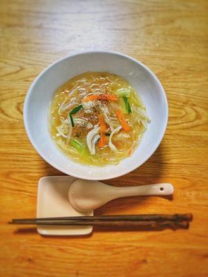 コンビニ食材で春雨ら〜麺<お一人さまの優しい夜食>