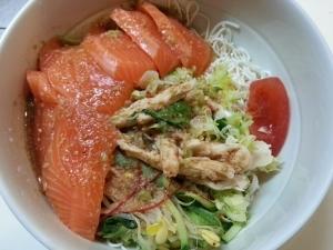 豆腐そうめんで作るヘルシーサラダ麺