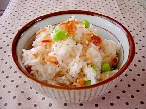 鮭と枝豆の混ぜご飯♪