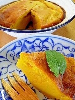 トースターで8分!簡単かぼちゃケーキ♡