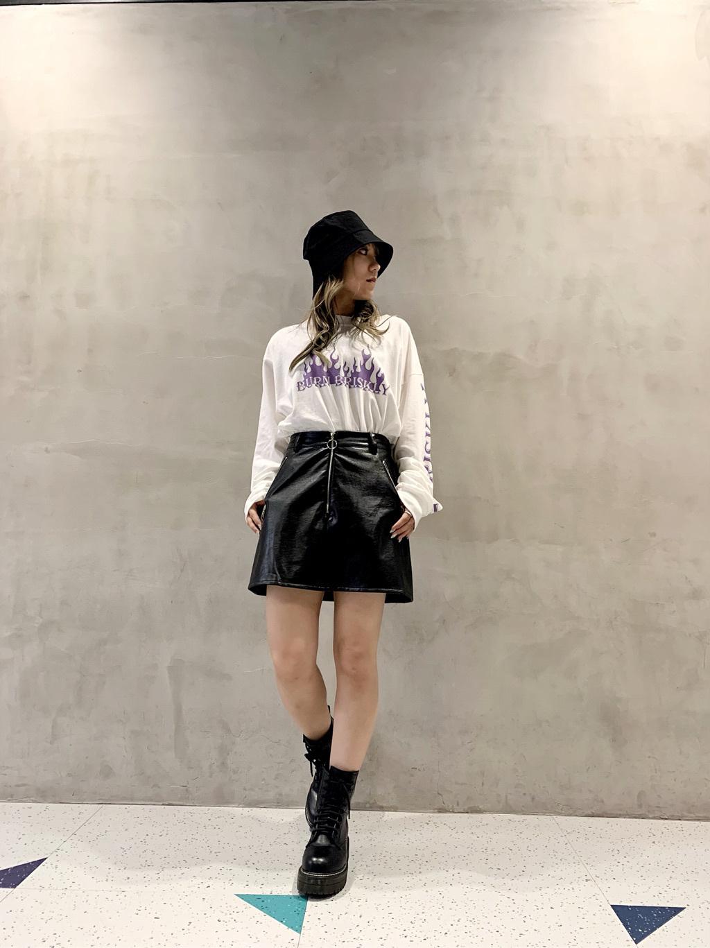 ④バケハを合わせたストリート系ファッション