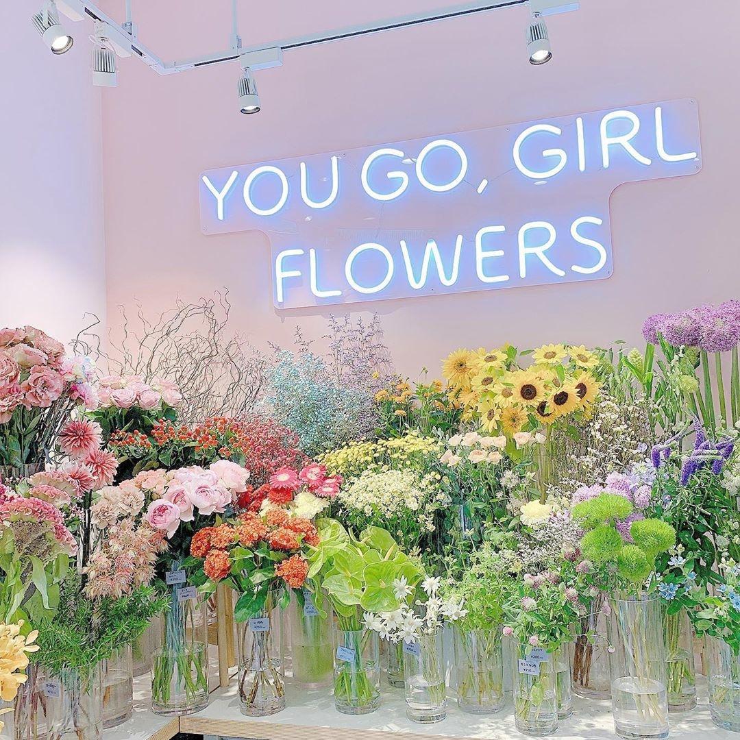素敵なお花とフラワーアイテムが揃う