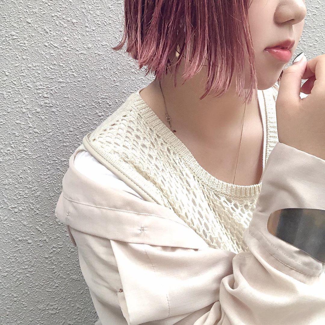 恋している少女のようなピンクカラー