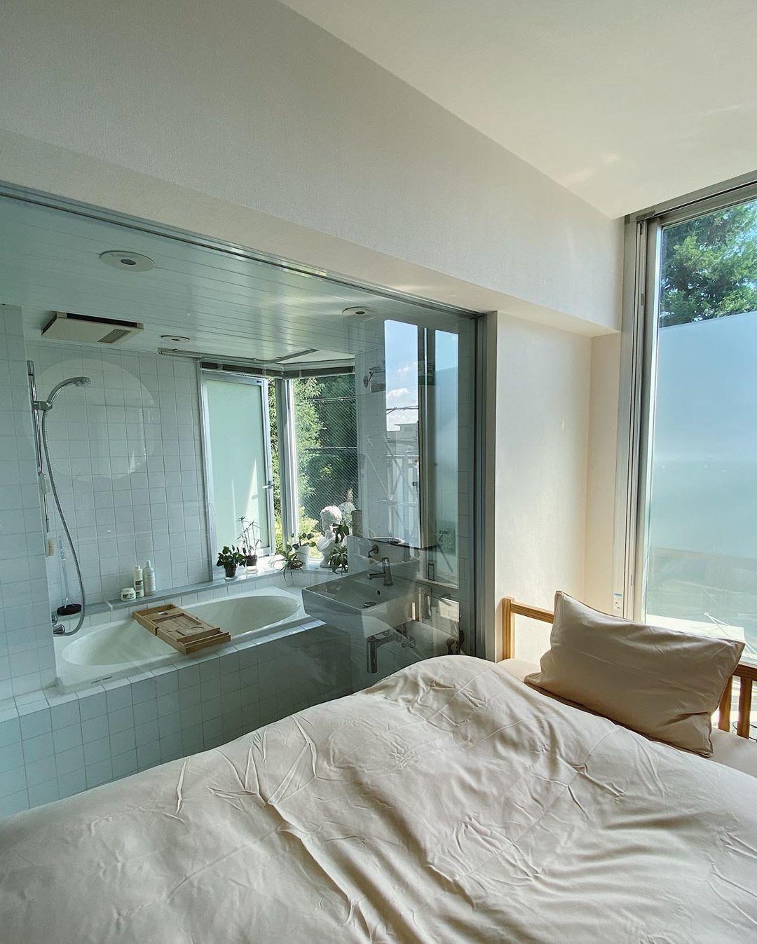 ♡:広々としたお風呂があるお部屋