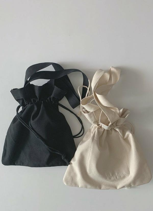 コットン巾着バッグ
