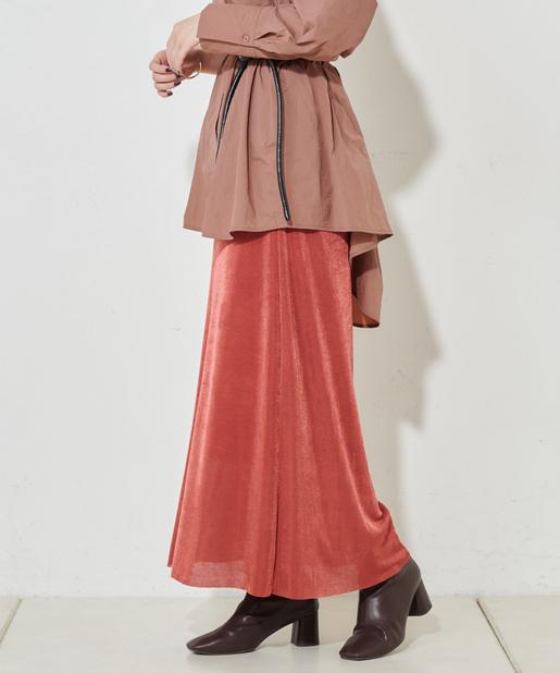 シャイニーカラーネットスカート