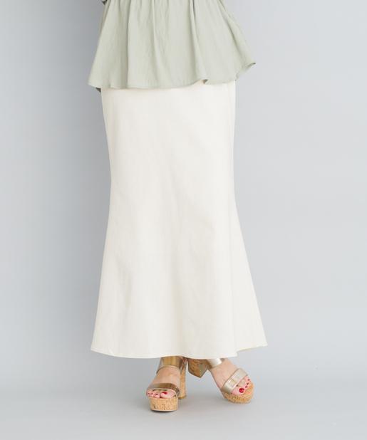 綿麻マーメイドラインロングスカート