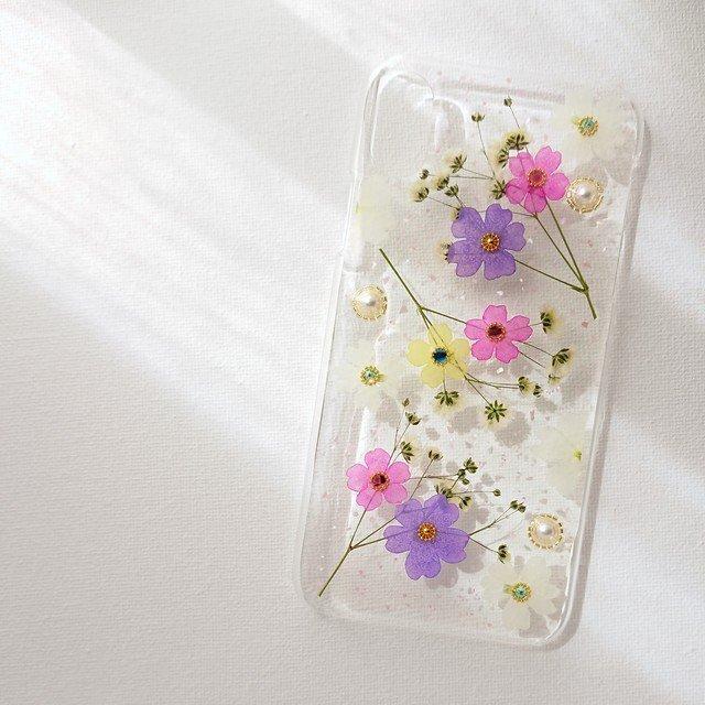 押し花のiPhoneケース -可憐-