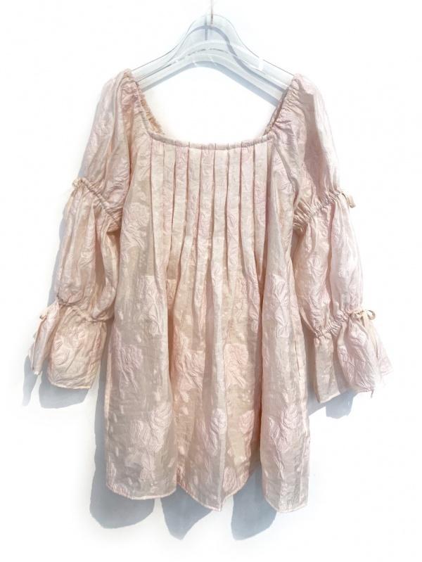 sheer jacquard tunic