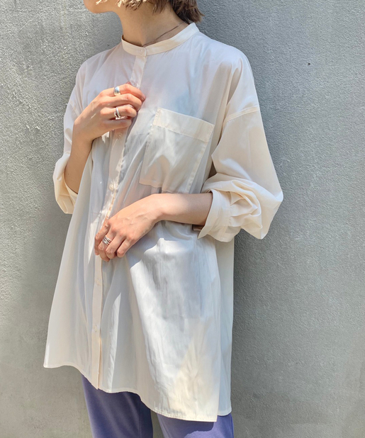レザーライクシャツ