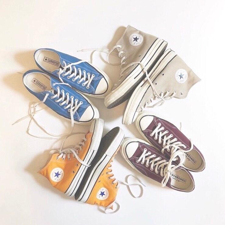 お手本コーデでカラフルな靴への第一歩♡
