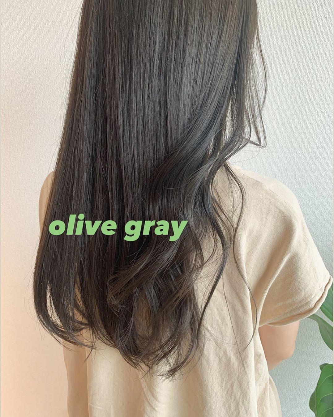 (♡)オリーブグレー
