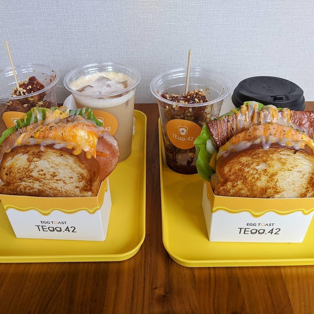 韓国で大人気のタマゴサンド