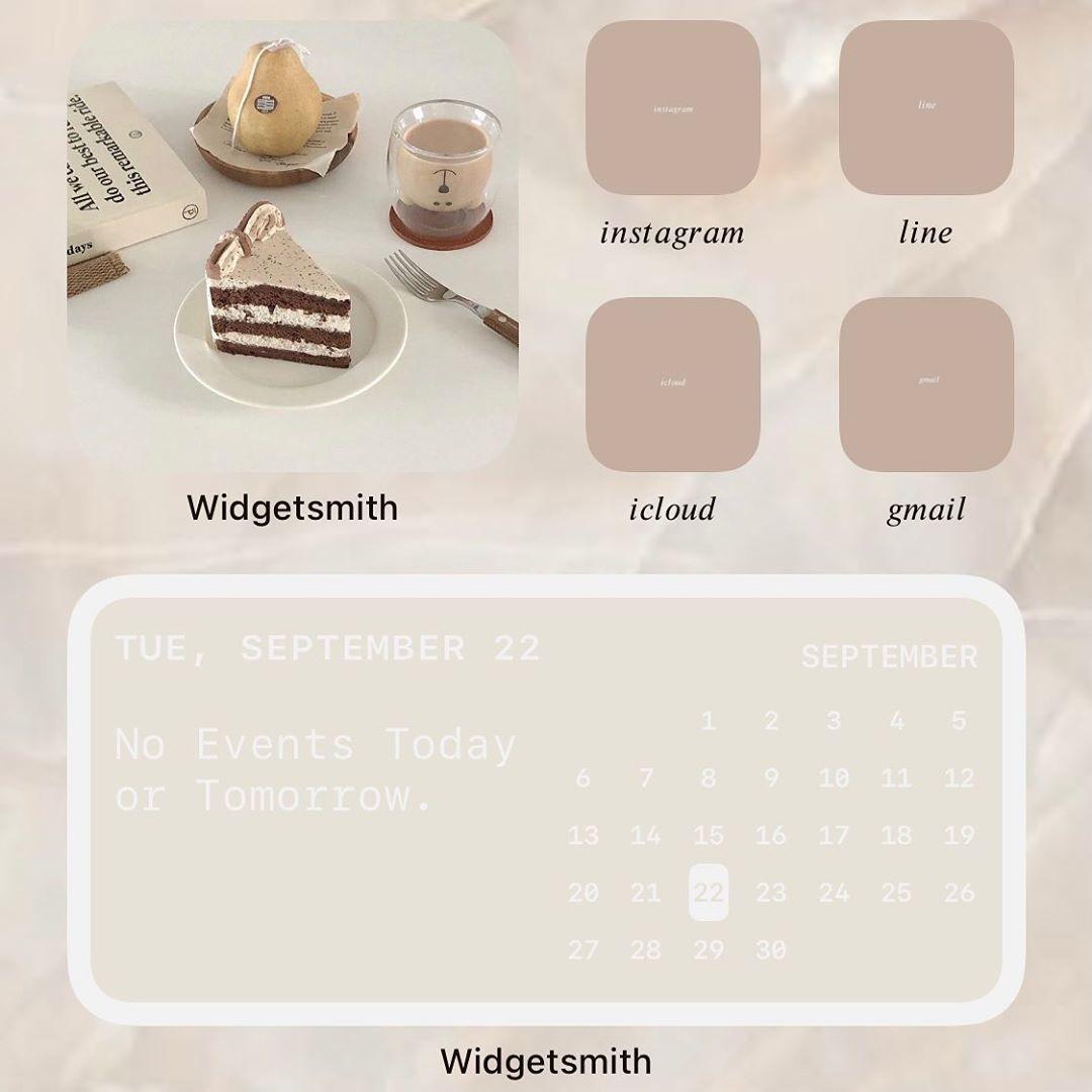 画像を配置&カレンダー・時計を追加する場合→「Widgetsmith」