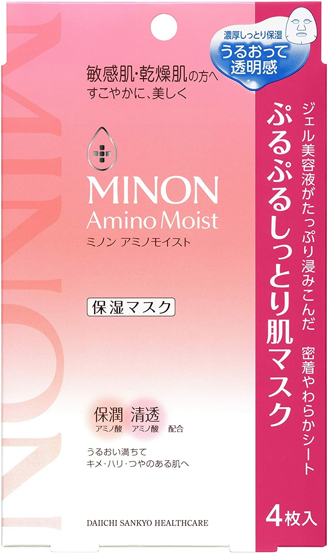 ミノン アミノモイスト ぷるぷるしっとり肌マスク 22mL×4枚入