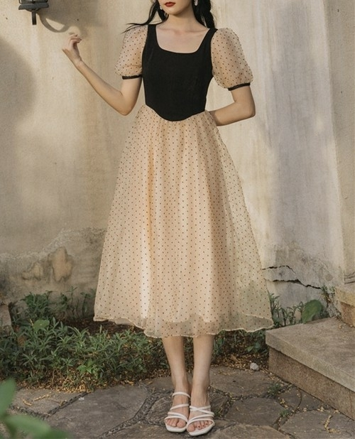 dot tulle dolly dress