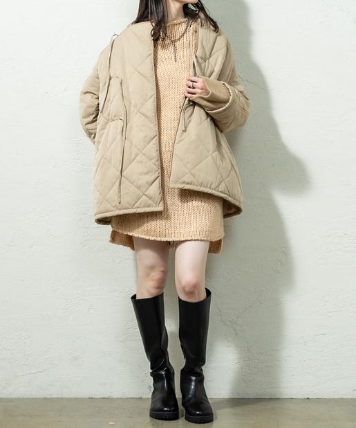 中綿キルティングショートジャケット