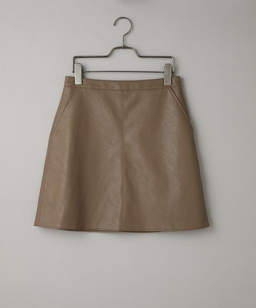 フェイクレザーミニスカート