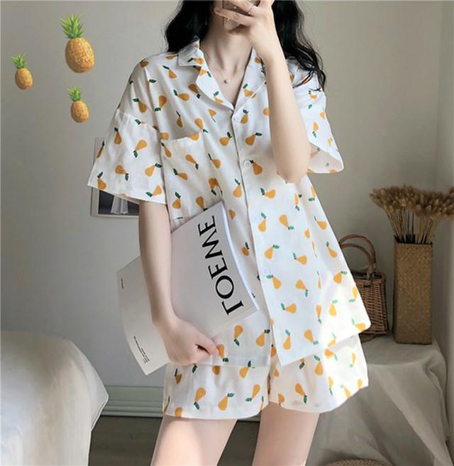 Pineapple Gari logo pajamas set