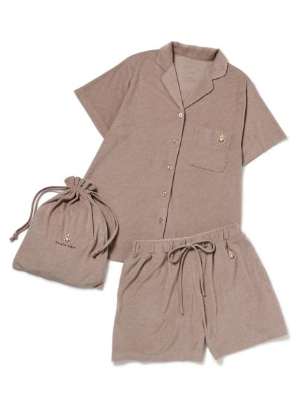 抗菌防臭パイルベアシャツ&ショートパンツ&巾着SET