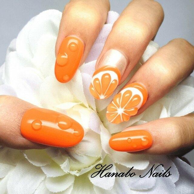派手可愛い水滴×オレンジ