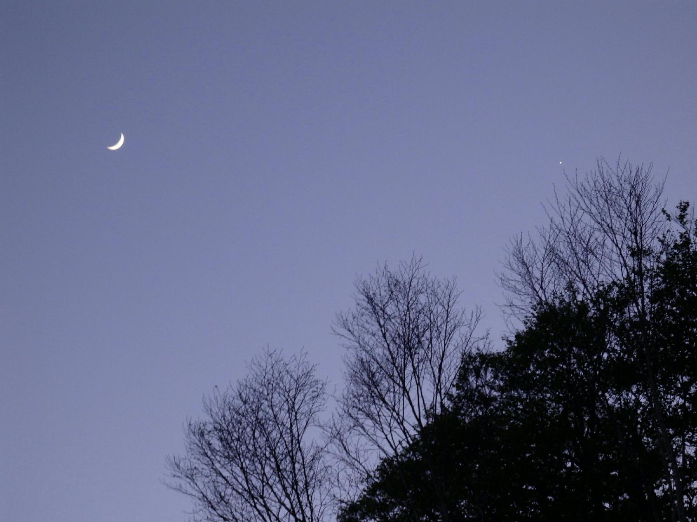 月を眺めて過ごす、夜の時間