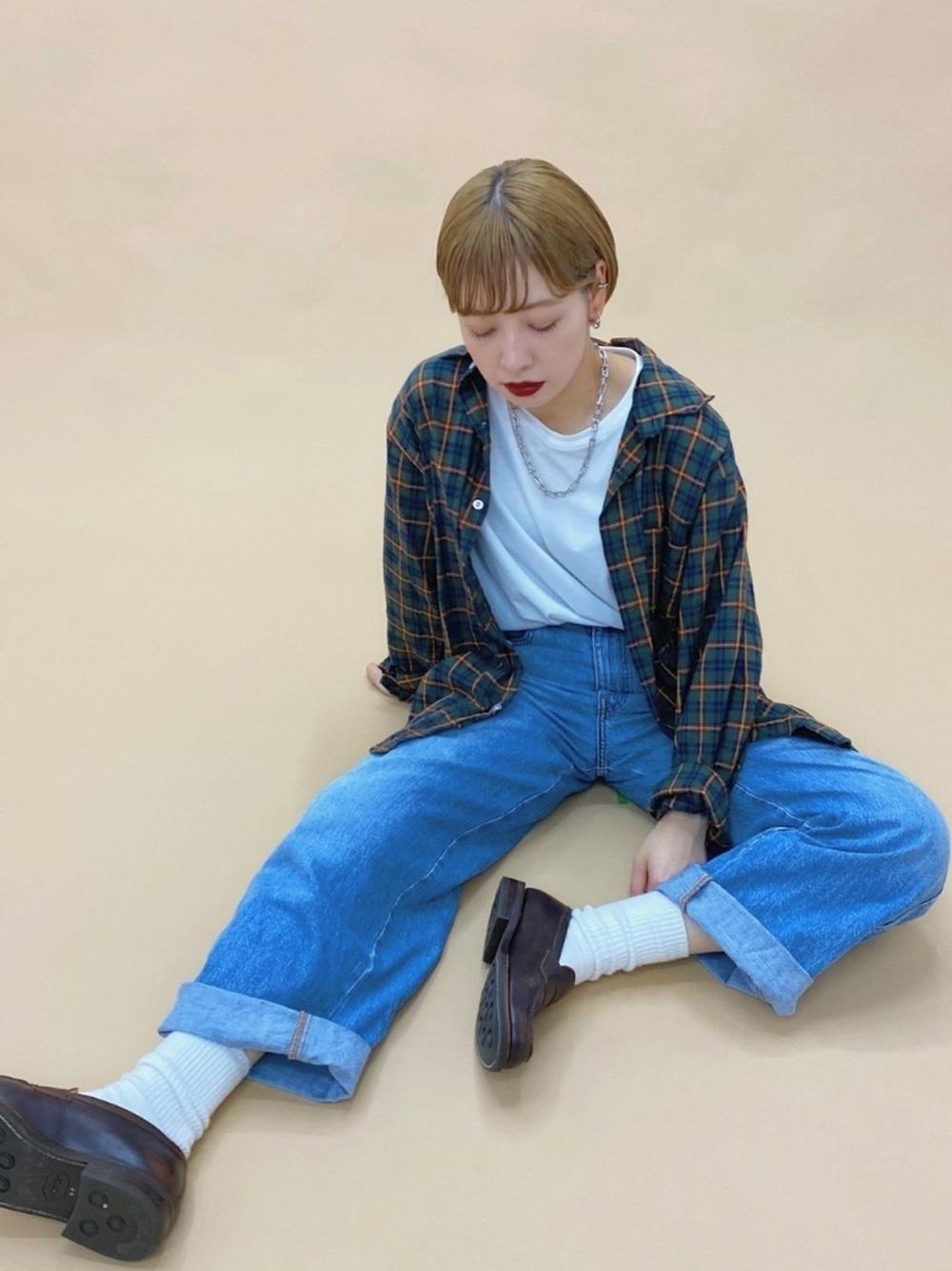 デニム×白靴下×○○?
