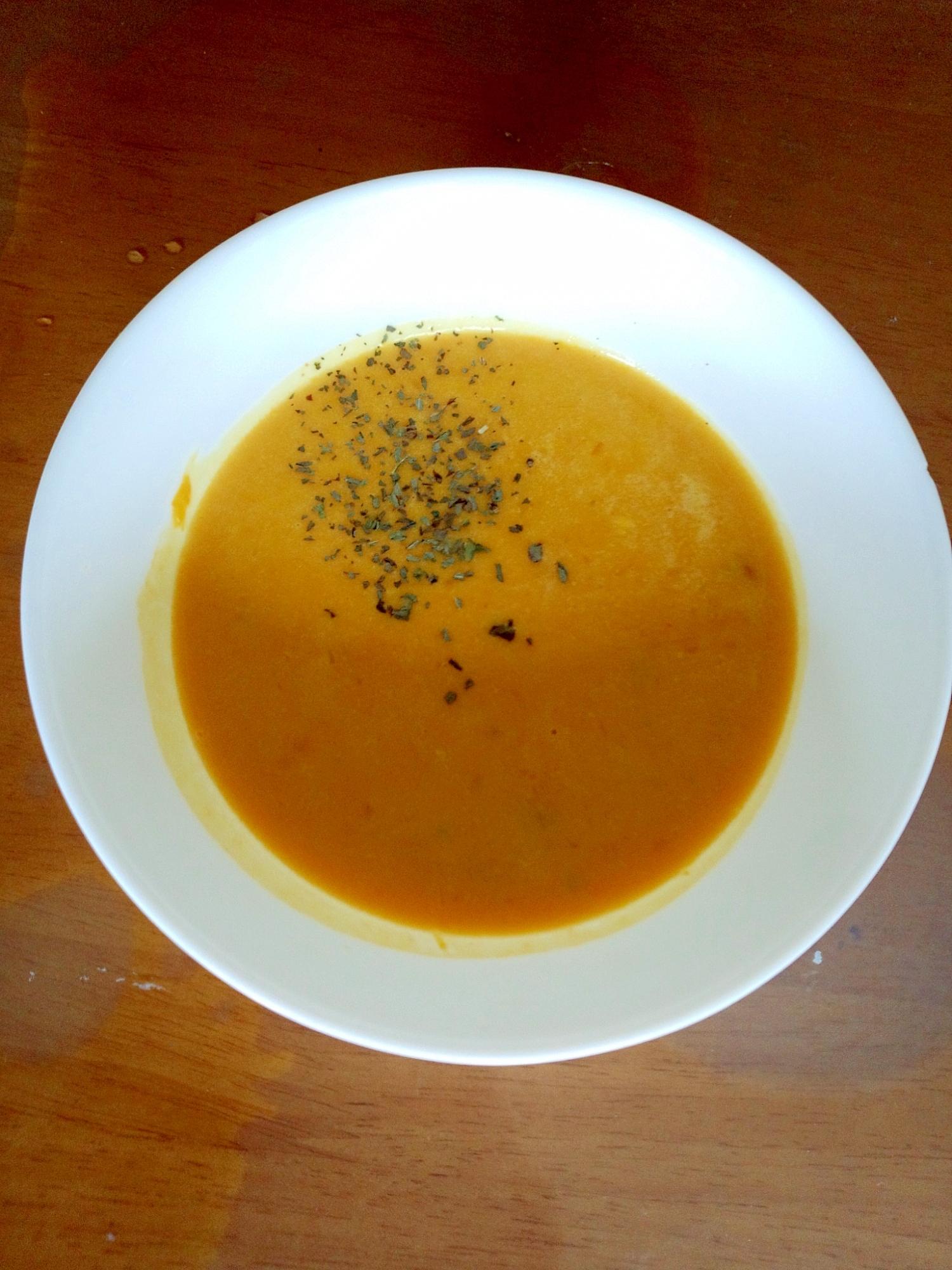 余ったかぼちゃの煮物でパンプキンスープ