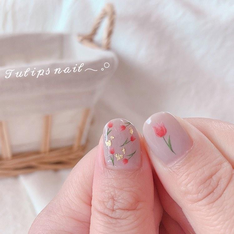 1│親指×フラワーデザイン