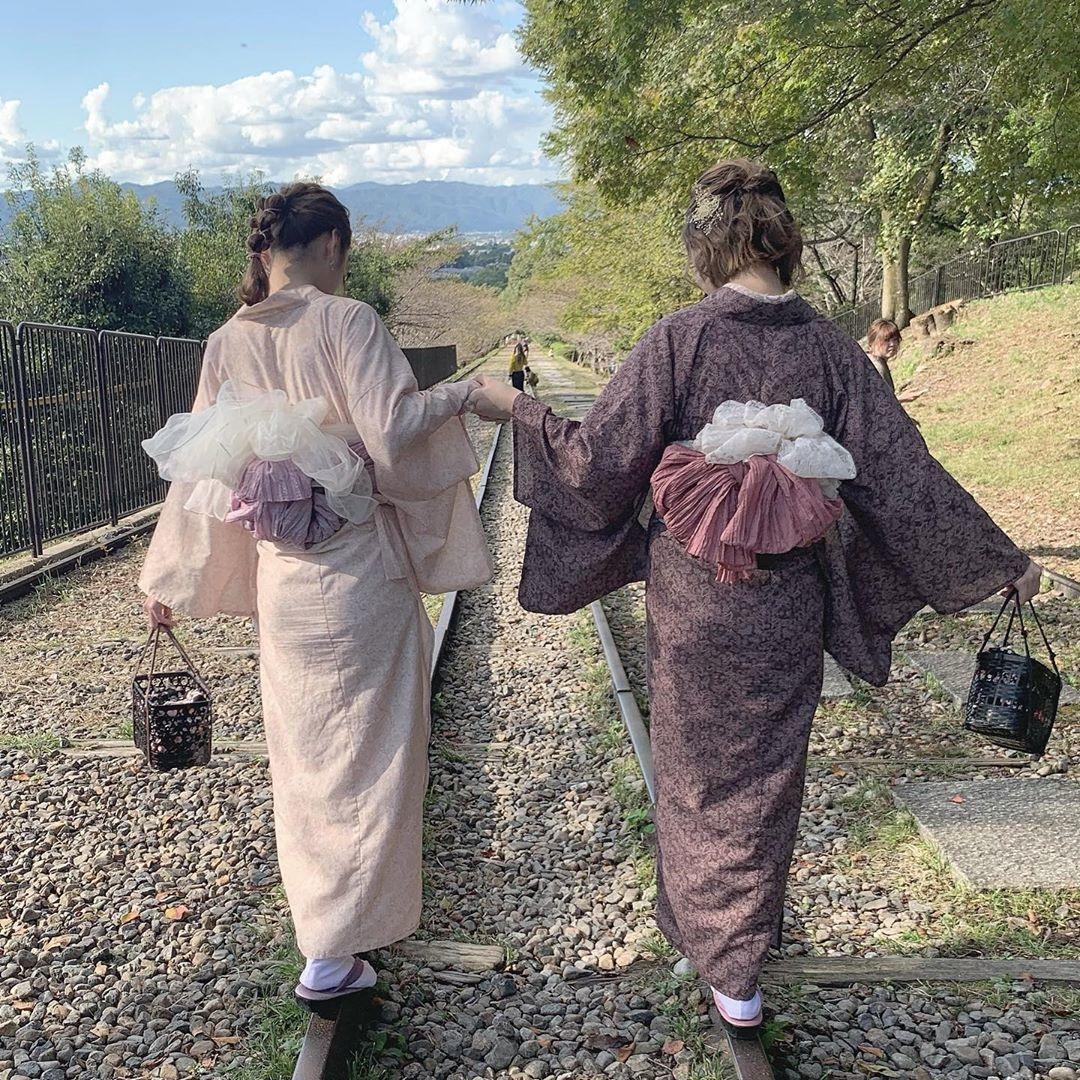蹴上インクライン@京都|着物でお散歩