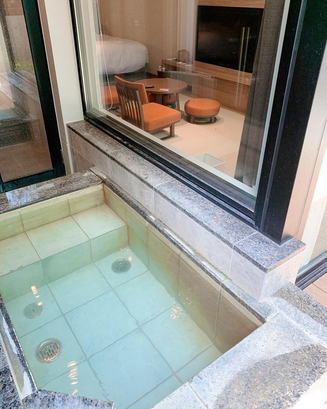 お部屋に露天風呂が付いている◎