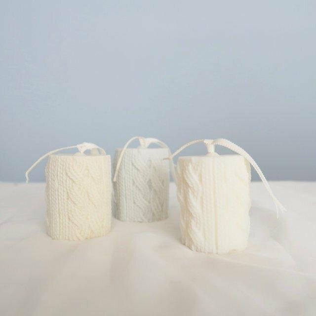 ソイキャンドル 毛糸キャンドル