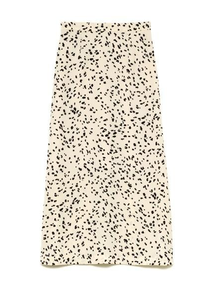 バリエーションプリントサテンスカート