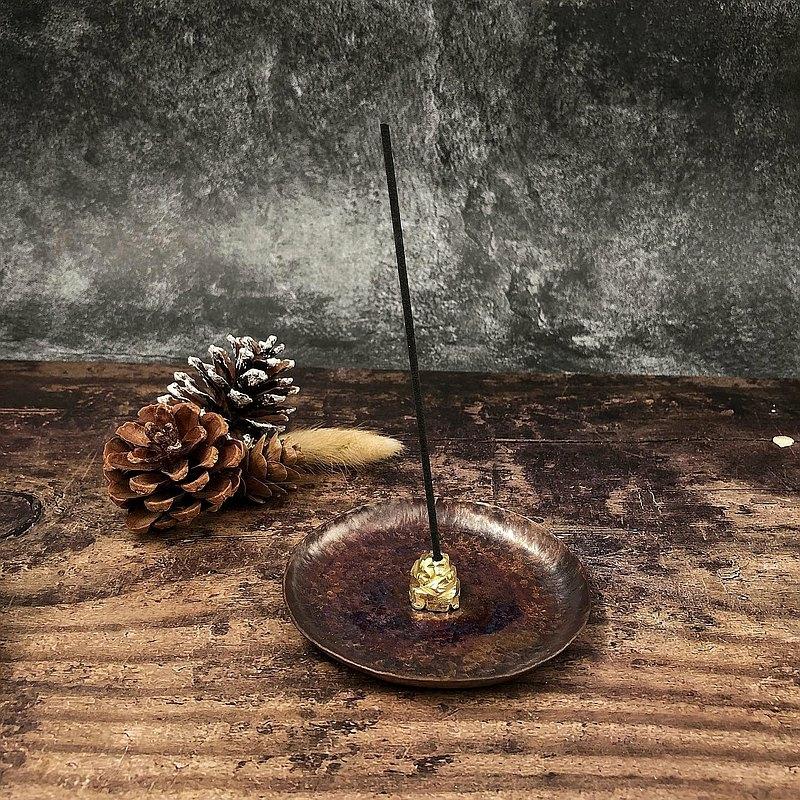 Rock incense dish