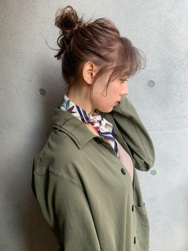 ゆるりとした服にはまとめ髪を♡