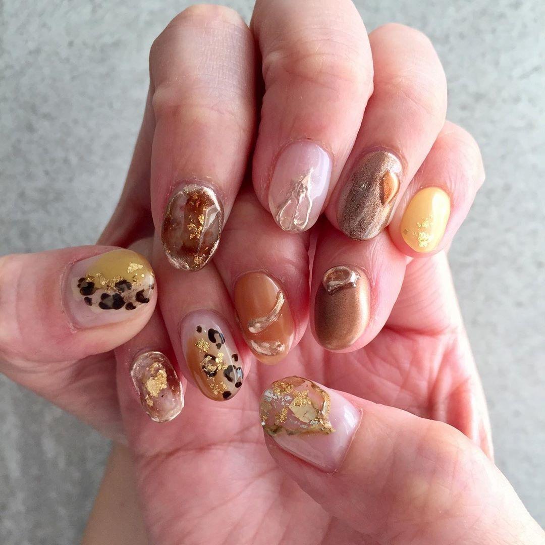 ▷|orange nail