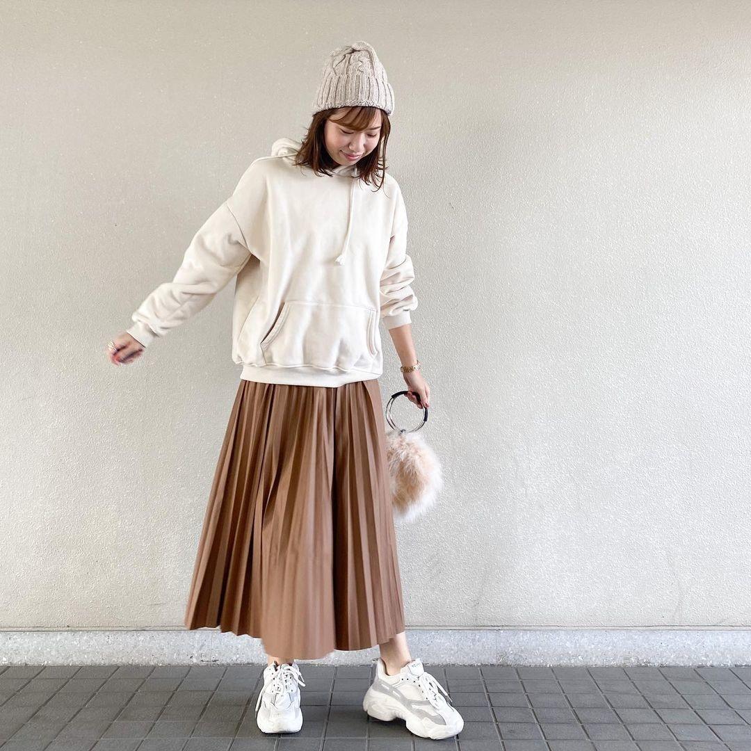 スカートスタイルにももちろん合います♡